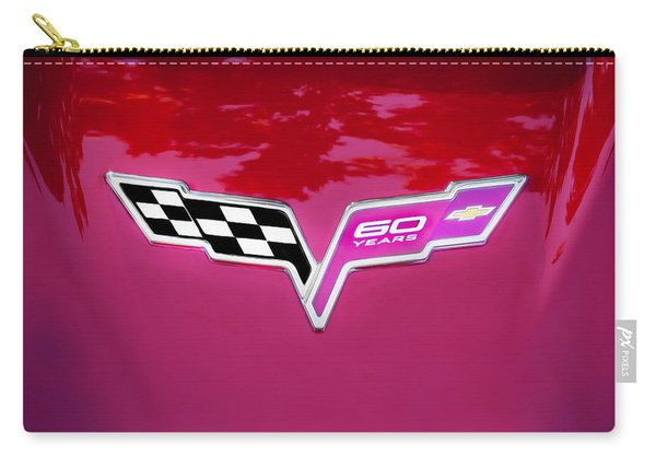 2013 Corvette 60th Anniversary Hood Logo Painted Carry-all Pouch