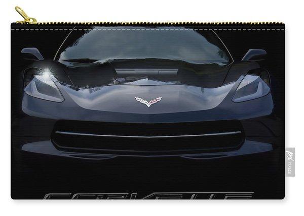 2014 Corvette With Emblem Carry-all Pouch