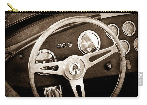 1965 Ac Cobra Steering Wheel Emblem Carry-all Pouch