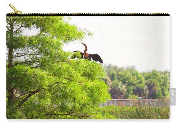 Anhinga Anhinga Anhinga On A Tree Carry-all Pouch