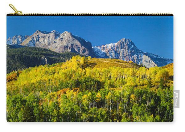 Aspen Trees With Mountains Carry-all Pouch