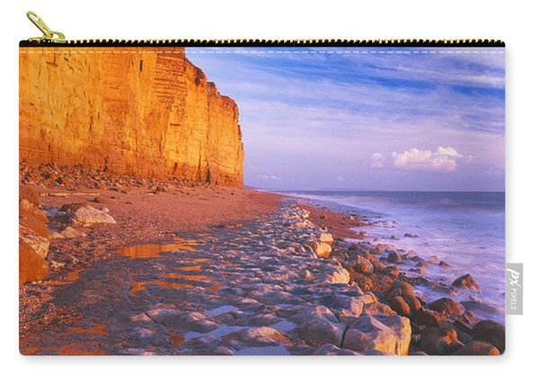 Cliff On The Beach, Burton Bradstock Carry-all Pouch