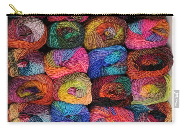 Colorful Knitting Yarn Carry-all Pouch