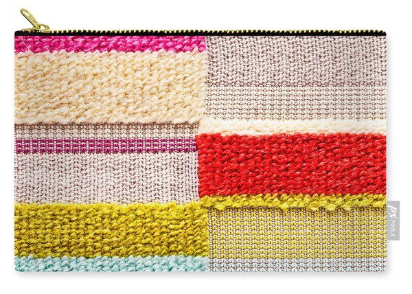 Colorful Textile Carry-all Pouch