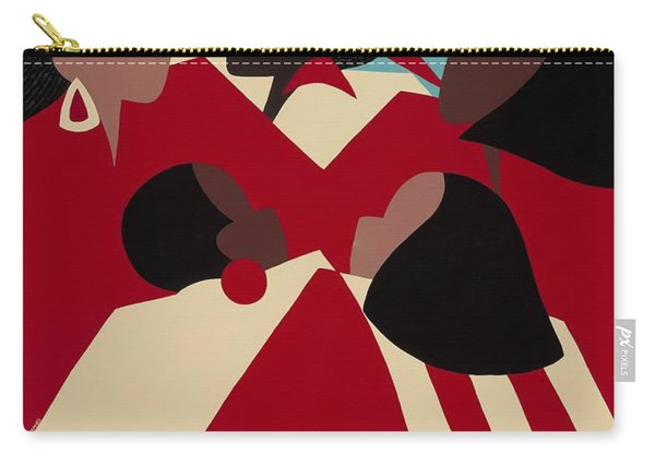 Crimson And Cream Carry-all Pouch