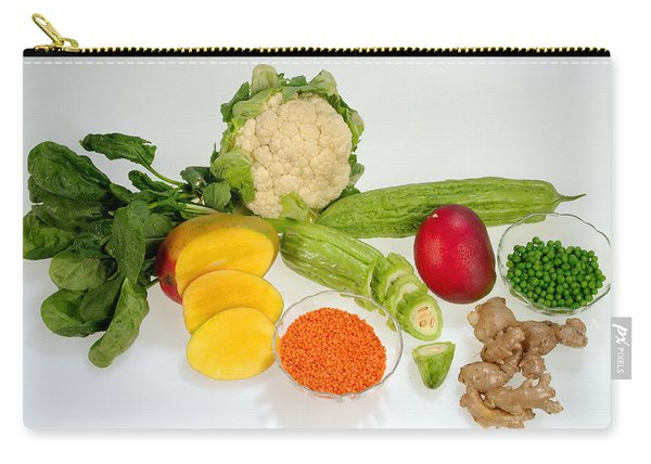 Healthy Fruits And Vegetables Carry-all Pouch