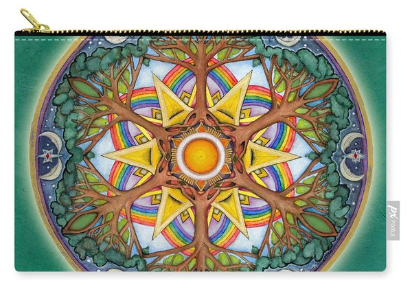 Heaven And Earth Mandala Carry-all Pouch