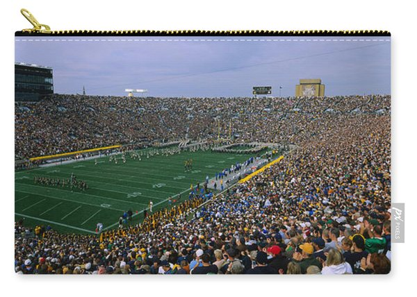 High Angle View Of A Football Stadium Carry-all Pouch