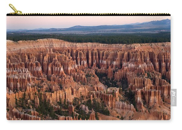 High Angle View Of Rock Formations Carry-all Pouch
