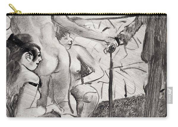 Illustration From La Maison Tellier By Guy De Maupassant Carry-all Pouch