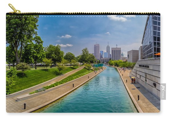 Indianapolis Skyline From The Canal Carry-all Pouch