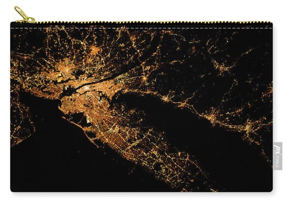 Night Time Satellite Image Of New York Carry-all Pouch