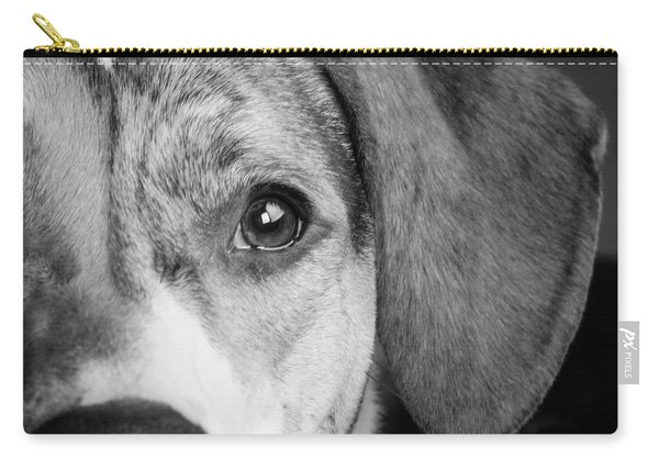 Portrait Of A Mixed Dog Carry-all Pouch