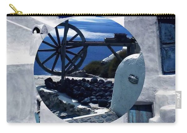 Carry-all Pouch featuring the photograph Santorini Island Greece by Colette V Hera  Guggenheim
