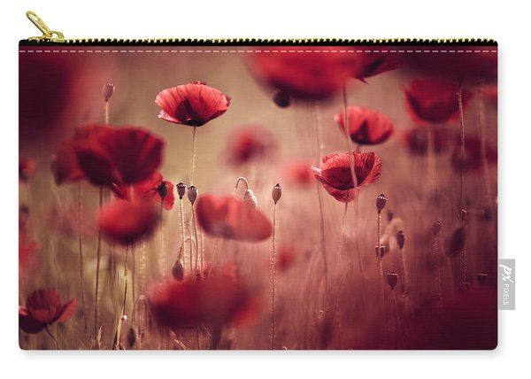 Summer Poppy Carry-all Pouch