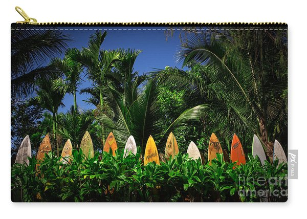 Surf Board Fence Maui Hawaii Carry-all Pouch