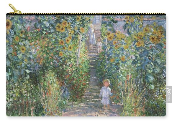 The Artist's Garden At Vetheuil Carry-all Pouch