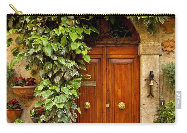 Carry-all Pouch featuring the photograph Tuscan Door by Brian Jannsen