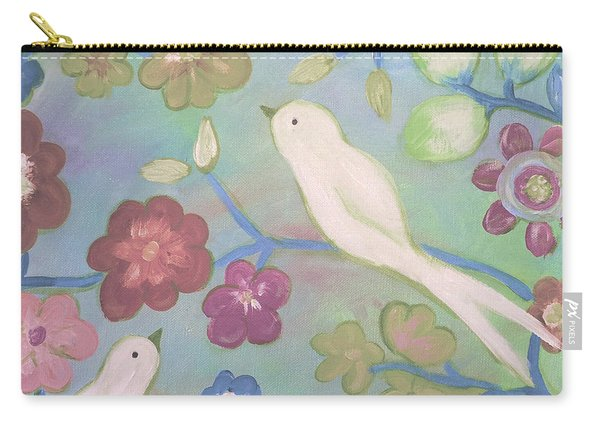 White Doves Carry-all Pouch