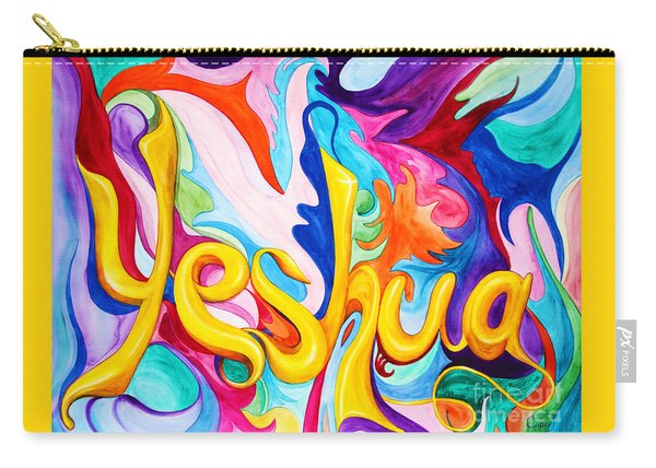 Carry-all Pouch featuring the painting Yeshua by Nancy Cupp