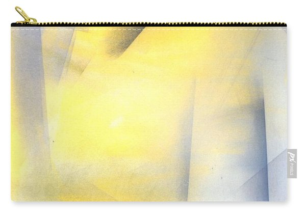 Raise The Bar - Grey And Yellow Abstract Art Painting Carry-all Pouch
