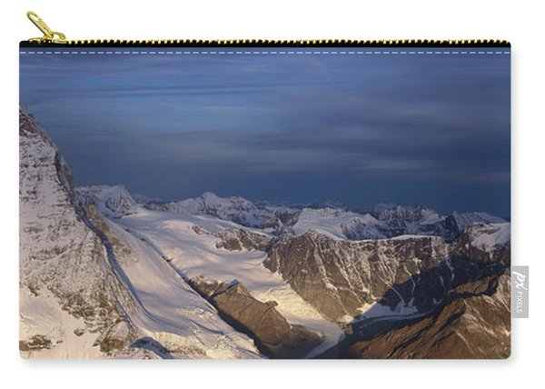 Panoramic Of High Mountain Peaks Carry-all Pouch
