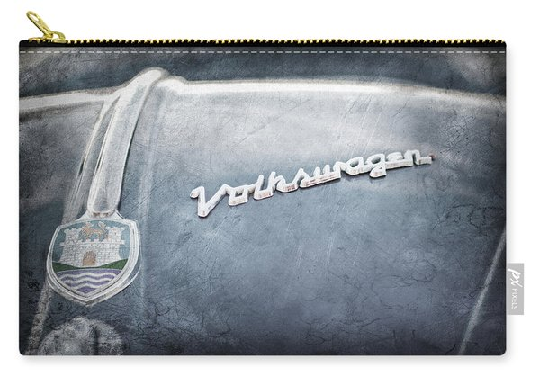 1956 Volkswagen Vw Bug Hood Emblem Carry-all Pouch