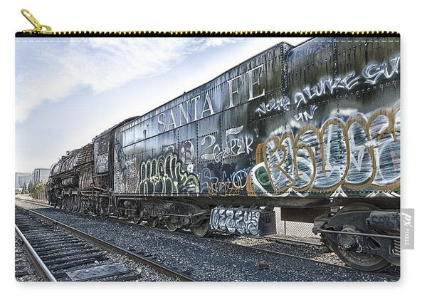 Carry-all Pouch featuring the photograph 4 8 4 Atsf 2925 In Repose by Jim Thompson