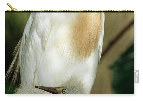 Cattle Egret And Nestlings Carry-all Pouch