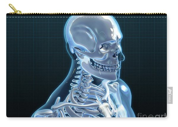 Human Skeleton, Artwork Carry-all Pouch