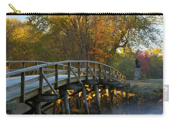 Carry-all Pouch featuring the photograph Old North Bridge Concord by Brian Jannsen