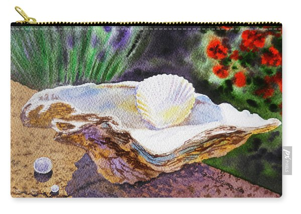 Sea Shell And Pearls Morning Light Carry-all Pouch