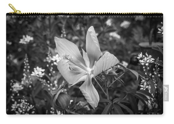 Texas Star Or Swamp Hibiscus Bloom Painted Bw  Carry-all Pouch