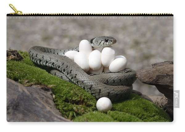 Grass Snake With Eggs Carry-all Pouch