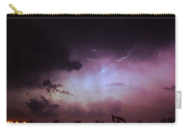 Carry-all Pouch featuring the photograph Our 1st Severe Thunderstorms In South Central Nebraska by NebraskaSC