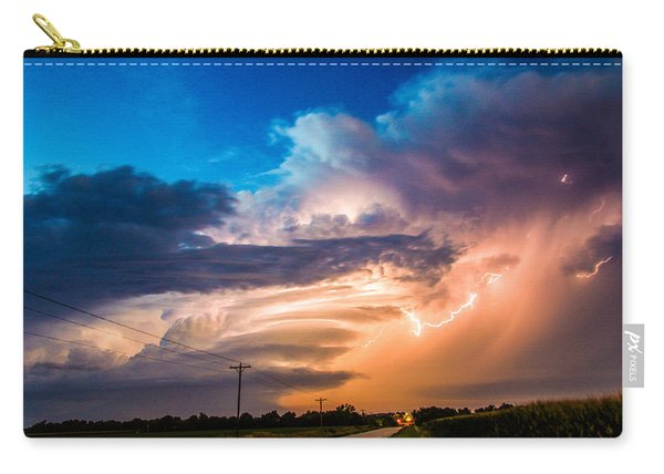 Carry-all Pouch featuring the photograph Wicked Good Nebraska Supercell by NebraskaSC