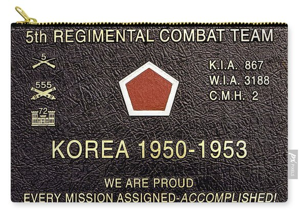 5th Regimental Combat Team Arlington Cemetary Memorial Carry-all Pouch
