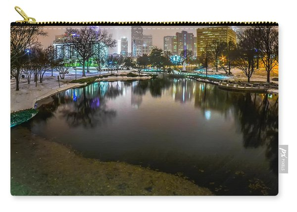 Charlotte Nc Skyline Covered In Snow In January 2014 Carry-all Pouch