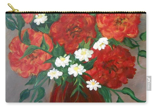 Carry-all Pouch featuring the painting 6 Flowers by Cynthia Amaral