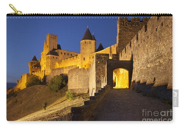 Carry-all Pouch featuring the photograph Medieval Carcassonne by Brian Jannsen