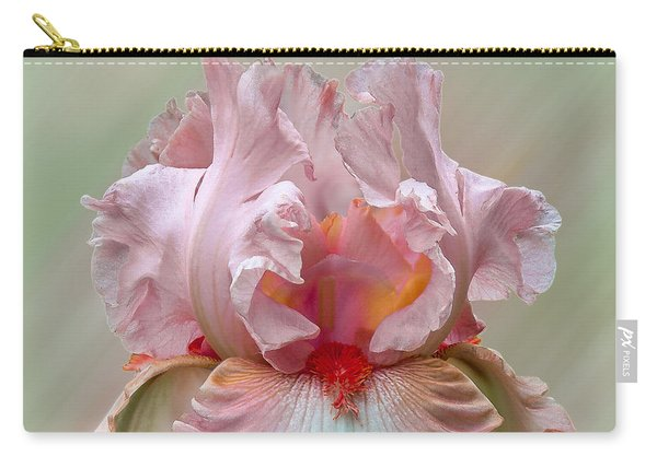 Pink Electrabrite Bearded Iris Carry-all Pouch