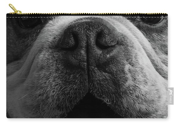 Portrait Of An English Bulldog Carry-all Pouch