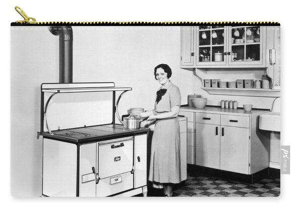 Woman Cooking Carry-all Pouch