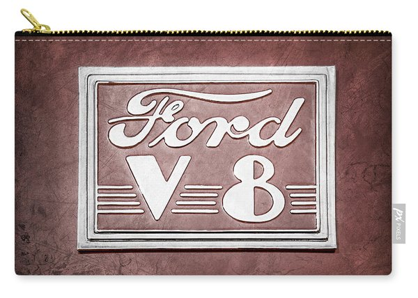 1940 Ford Deluxe Coupe Emblem Carry-all Pouch