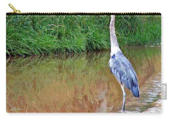 Blue Heron On The East Verde River Carry-all Pouch
