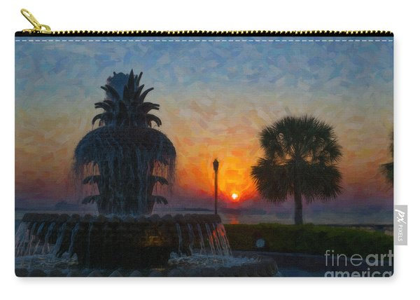Pineapple Fountain At Dawn Carry-all Pouch
