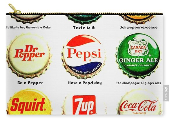 70s Soft Drink Slogans Carry-all Pouch