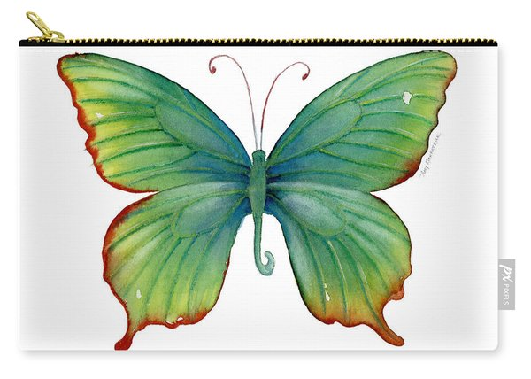 74 Green Flame Tip Butterfly Carry-all Pouch