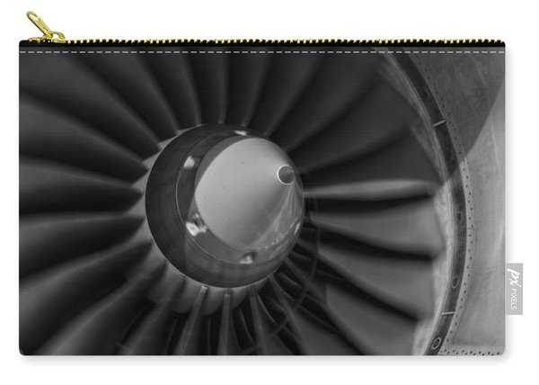 757 Engine Black And White Carry-all Pouch