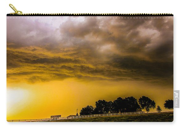 Carry-all Pouch featuring the photograph Late Afternoon Nebraska Thunderstorms by NebraskaSC